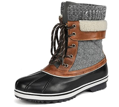 DREAM PAIRS Mid Calf Winter Snow Boots Duck Boots