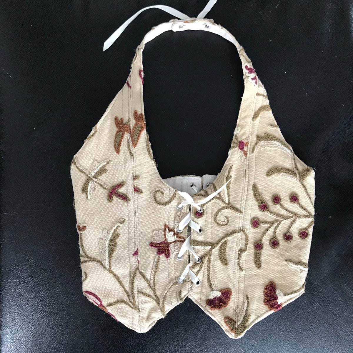 Boned Embroidered Vest