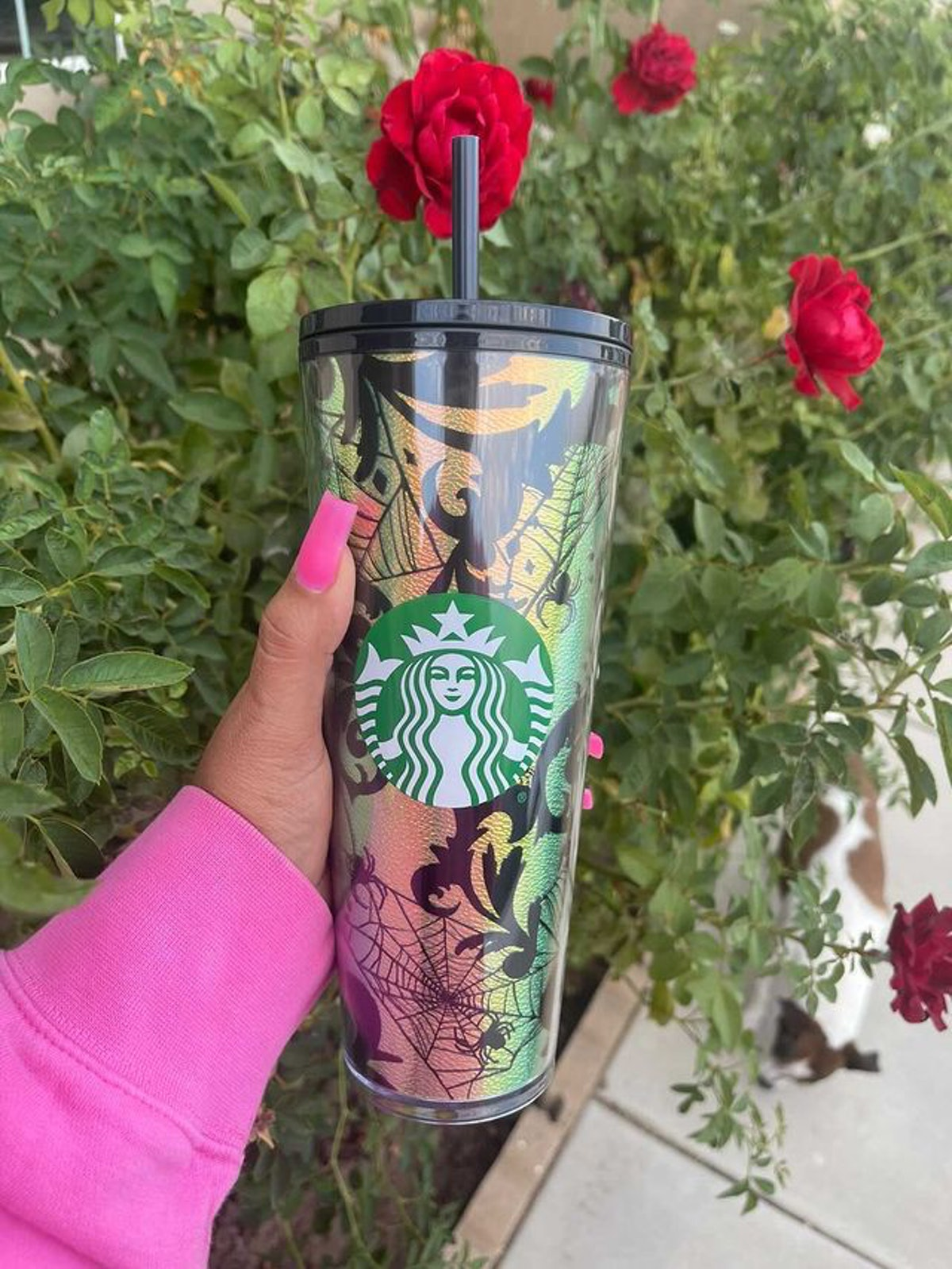 These Starbucks' Halloween 2021 tumblers and cold cups include a spider-themed cup.