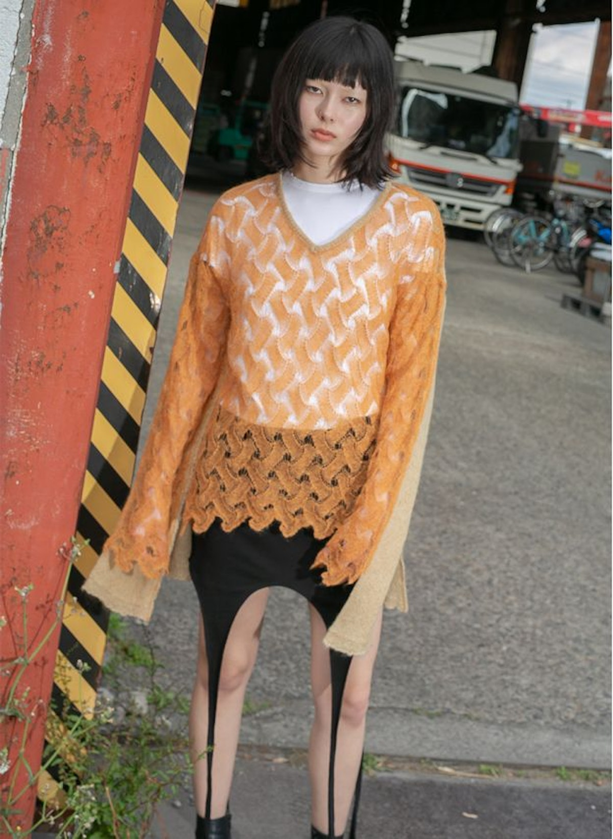 Perverze Double Knit Top sweater for layering