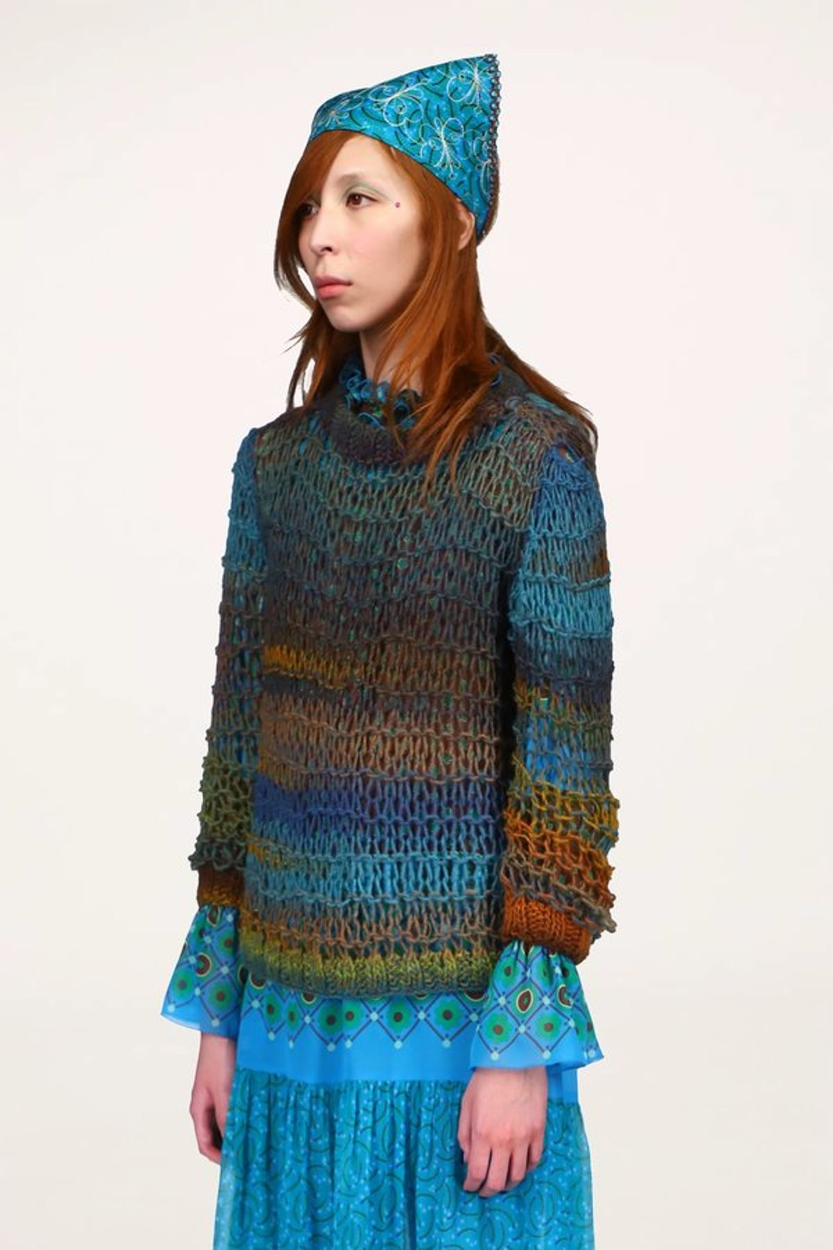 Anna Sui Sunset Spacedye Knit Sweater