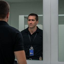 Jake Gyllenhall as Joe in 'The Guilty' (2021). Photo courtesy of Glen Wilson/Netflix.
