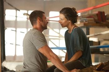 Hugh Jackman Evangeline Lilly Real Steel