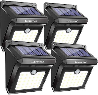 Luposwiten Solar Motion Sensor Lights (4-Pack)