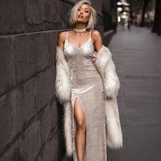 Faux Fur Long Fluffy Coat
