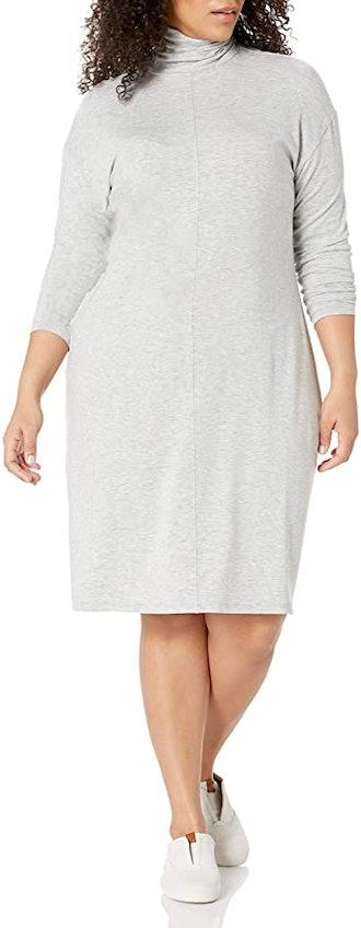 Amazon Brand - Daily Ritual Plus Size Long-Sleeve Turtleneck Dress