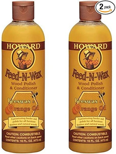 Howard Products Wood Polish & Conditioner (2-Pack)