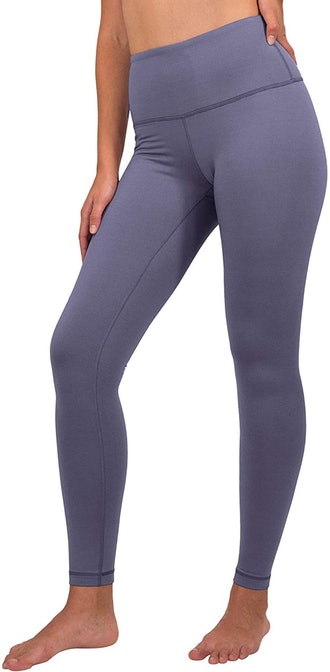High Waist Fleece Lined Leggings in Lavender Night from 90 Degree by Reflex, available to shop on Am...