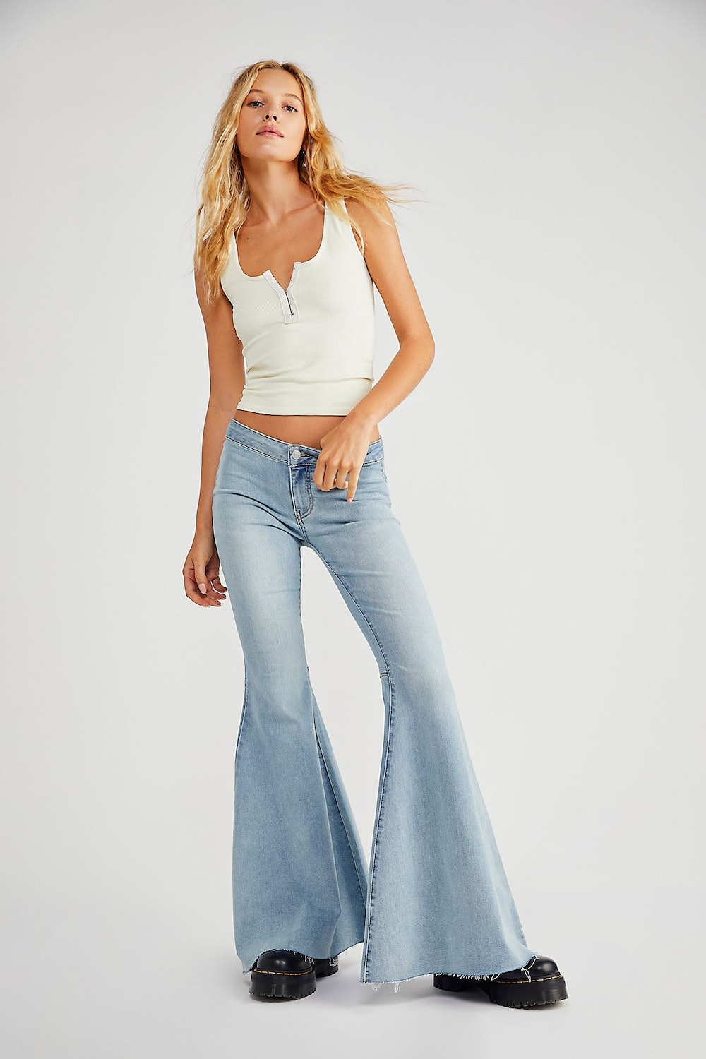 Just Float On Low-Rise Flare Jeans