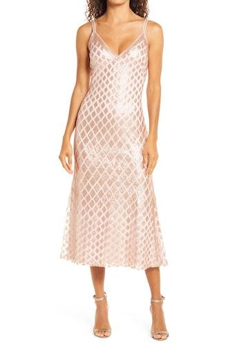 Diamond Sequins Midi Gown