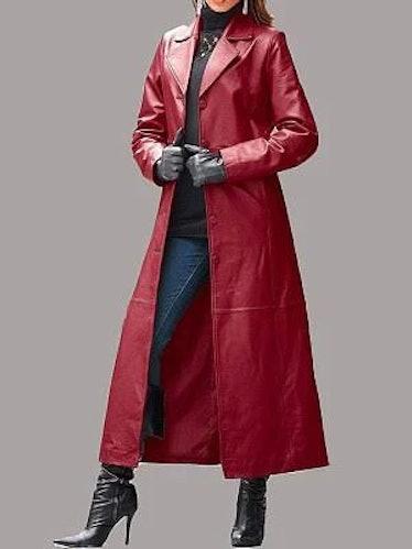 Leather Coat Long Coat