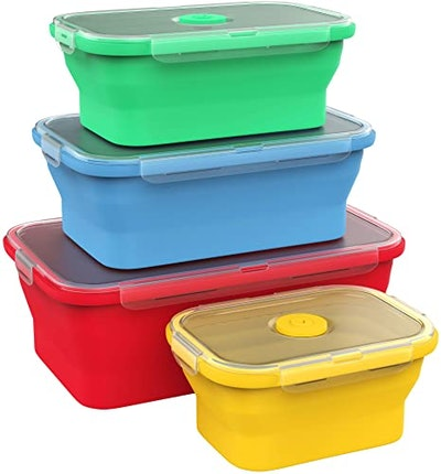 Vremi Silicone Food Storage Containers (4 Pieces)