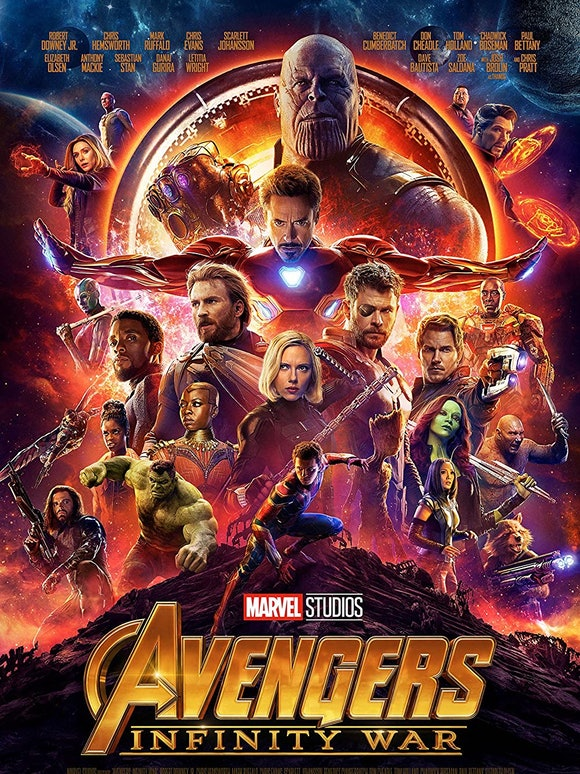 The poster for Avengers: Infinity War.