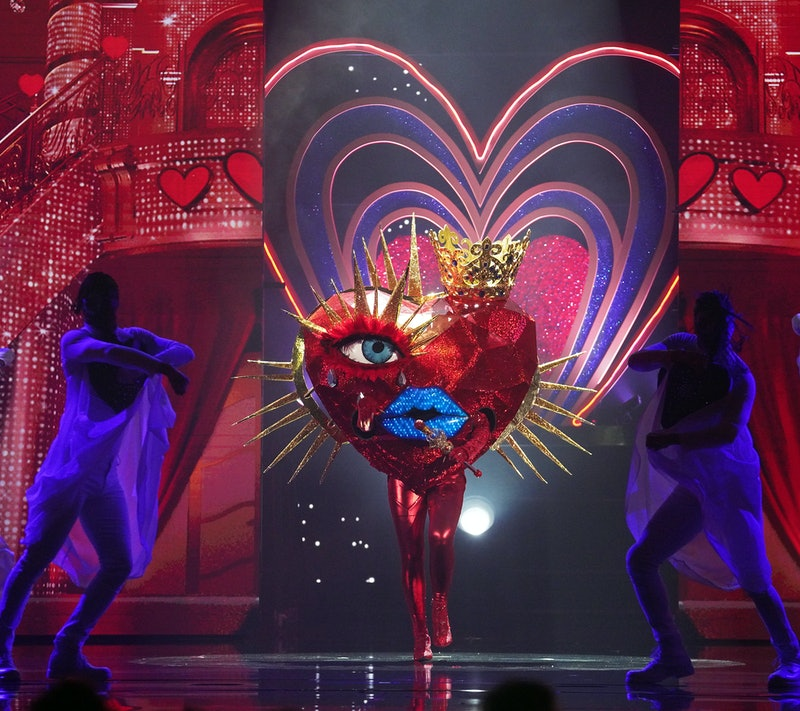 The Masked Singer's Queen of Hearts could be Jewel. Photo courtesy of Fox