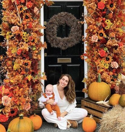 Stacey Solomon's 2019 autumnal front door design.