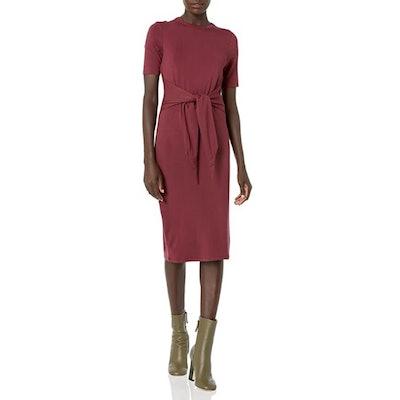 Daily Ritual Tie-Front Midi Dress