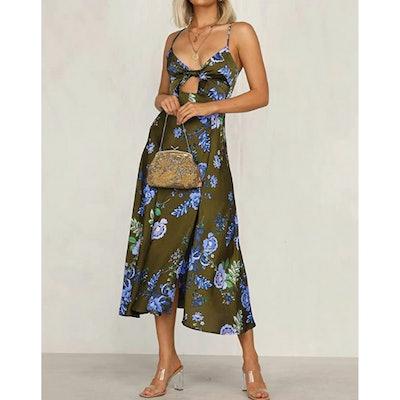 Fashionme Satin Midi Dress