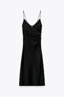 Draped Lingerie-Style Dress