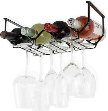 Wallniture Piccola Under Cabinet Wine Rack