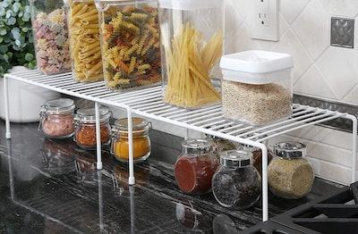 Smart Design Kitchen Storage Expandable Shelf Rack