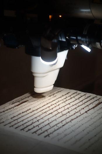 scanning of Marie Antoinette's secret love letters