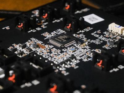The inside of the Razer Huntsman V2 TKL keyboard