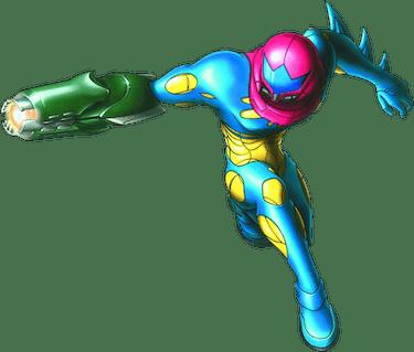 metroid fusion samus blue suit