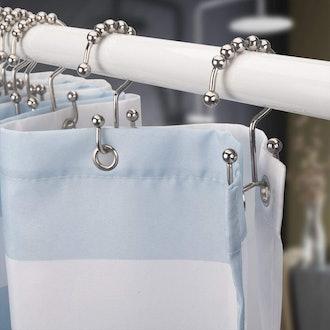 Titanker Shower Curtain Hooks Rings (12-Pack)