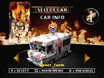 Sweet Tooth vehicle from Twisted Metal
