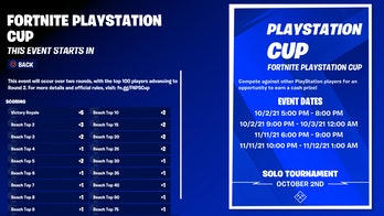 fortnite playstation cup 1 start time na east