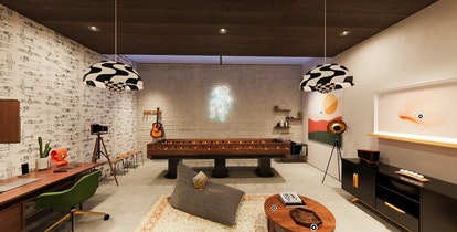 The Etsy House, an all-new immersive shopping experience, has a game room filled with home decor you...