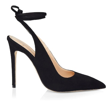 Brother Vellies black suede pumps.