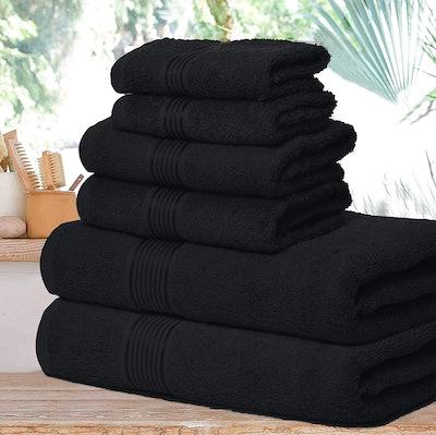Elvana Home Ultra Soft Cotton Towel Set (6-Pack)