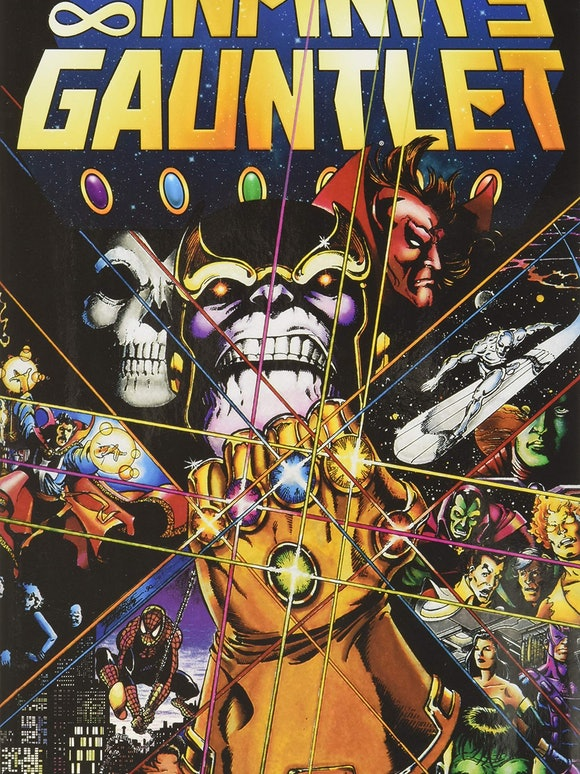 Cover for Infinity Gauntlet #1 by artist George Perez.