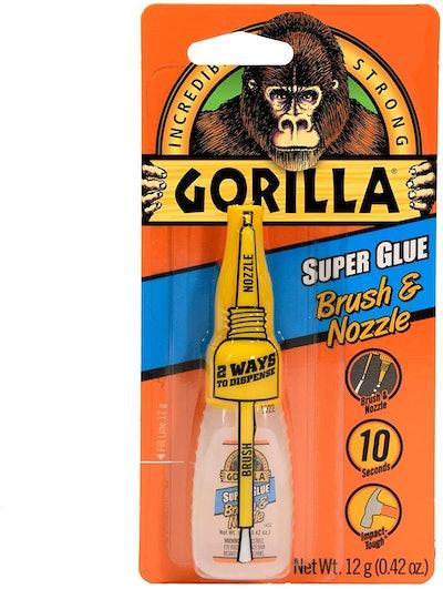 Gorilla Super Glue with Brush & Nozzle Applicator
