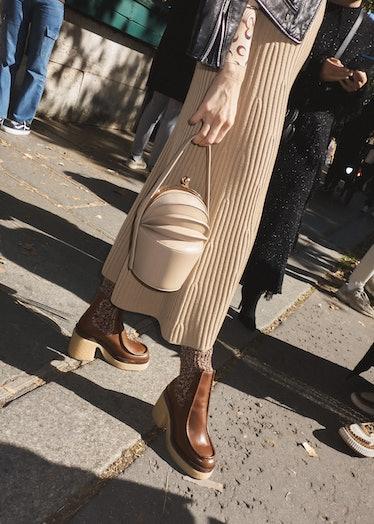 close up of bag in paris