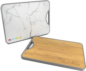 W. INNOVATIONS Double-Sided Bamboo Poly Cutting Board