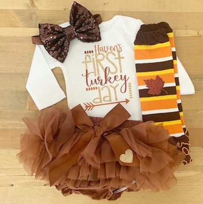 personalized Thanksgiving outfit for girls