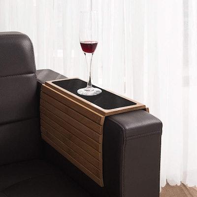 GEHE Bamboo Wood Sofa Arm Tray