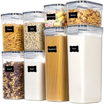 Chefstory Plastic Storage Containers (8-Pieces)