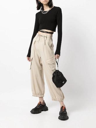 Cargo Straight-Leg Trousers