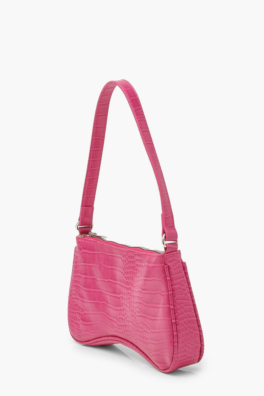 Croc Baguette Shoulder Bag