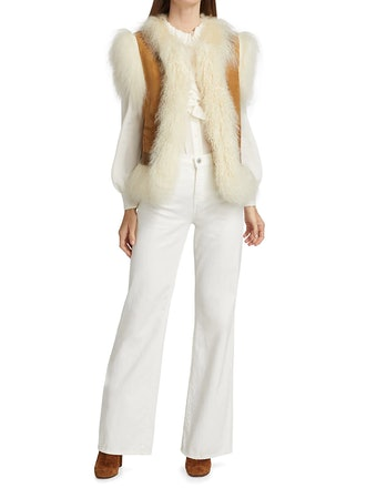McCartney Mongolian Fur Shearling Vest