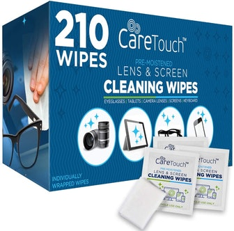 Care Touch Lens Cleaning Wipes (210 Count)