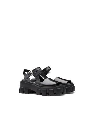 Monolith Brushed Leather Sandals