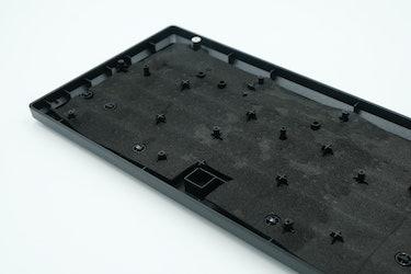 The foam inside of the Razer Huntsman V2 TKL keyboard. Mechanical gaming keyboard review.