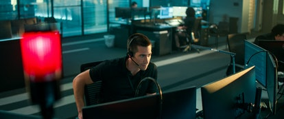 Jake Gyllenhall as Joe in 'The Guilty' (2021). Photo courtesy of Netflix.