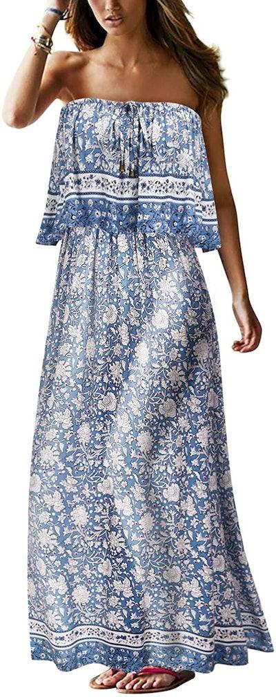 UIMLK Strapless Maxi Dress