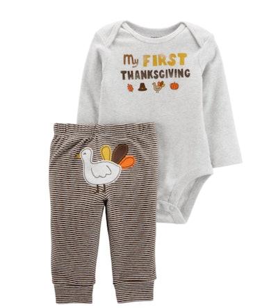 Thanksgiving bodysuit set for infants