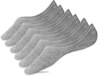 Eedor Thin No-Show Non-Slip Socks (3-Pack)